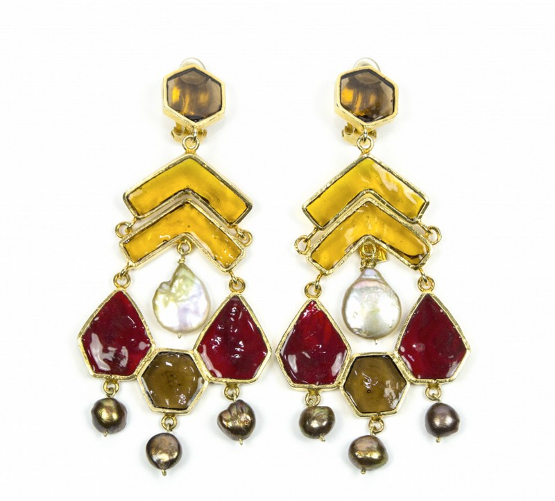 4827746662_LFalaise_MOSAIC AND PEARL EARRINGS AMBER, RED