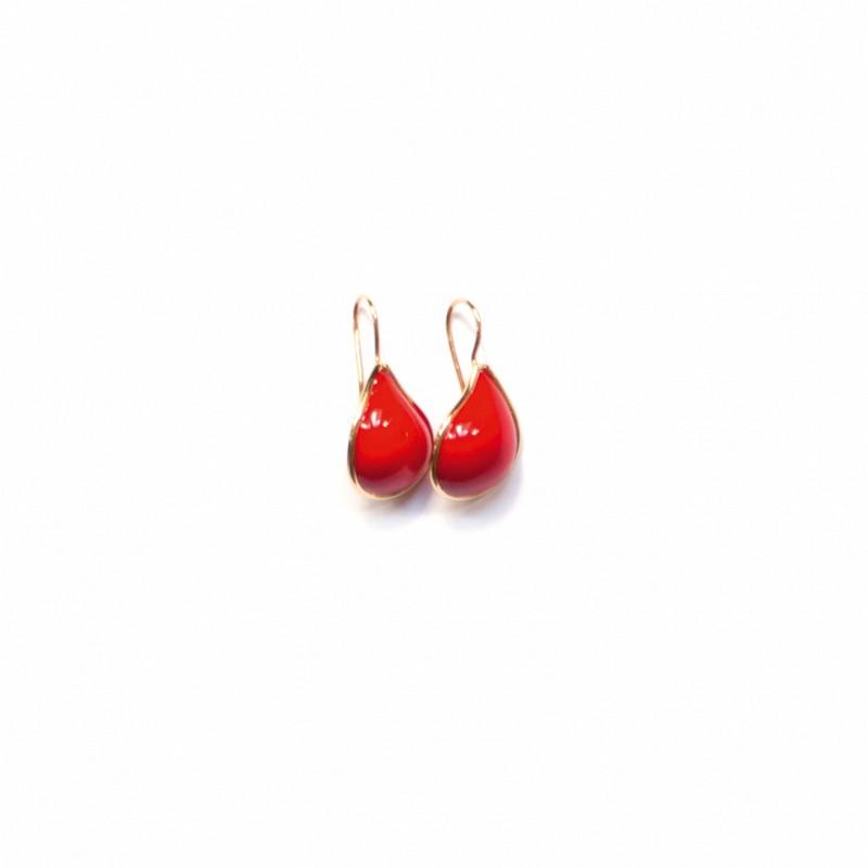 8568925458_LFalaise_TEARDROP EARRINGS RED